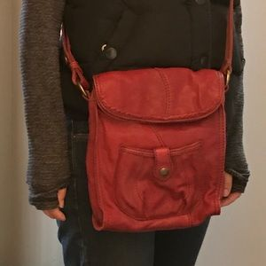 Lucky Brand Mini Abbey Road red crossbody bag